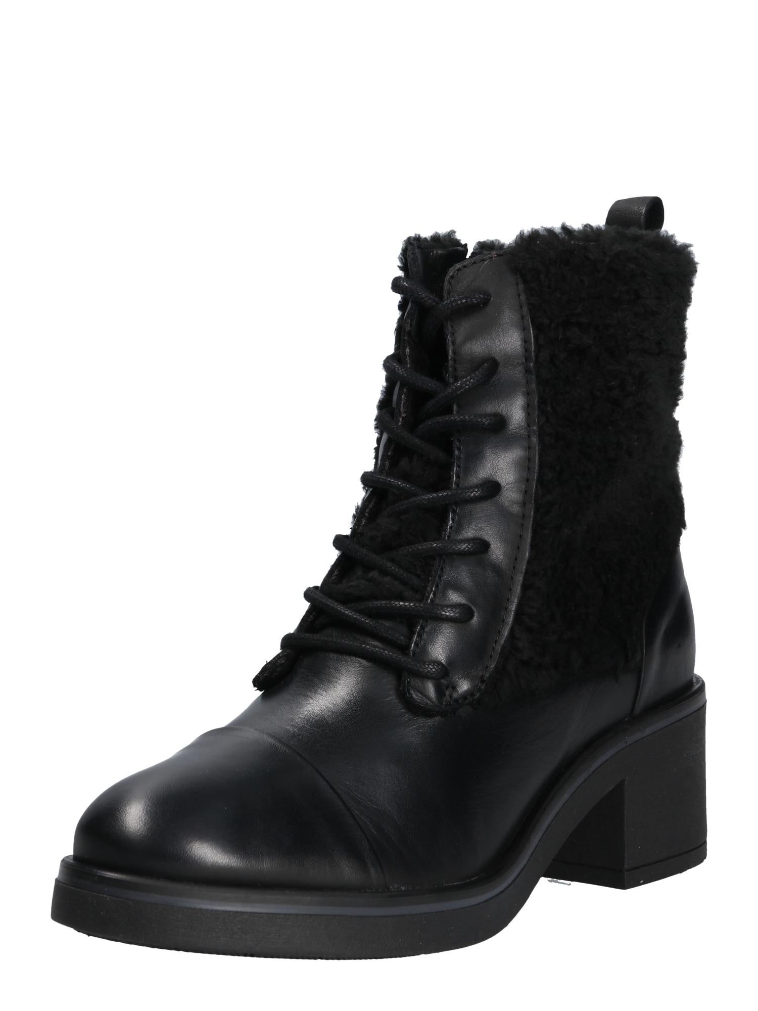 Šněrovací boty 18225 černá Zign
