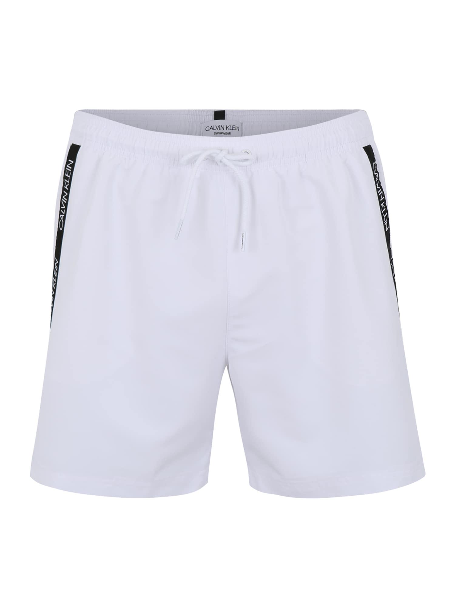 Plavky MEDIUM DRAWSTRING bílá Calvin Klein Swimwear