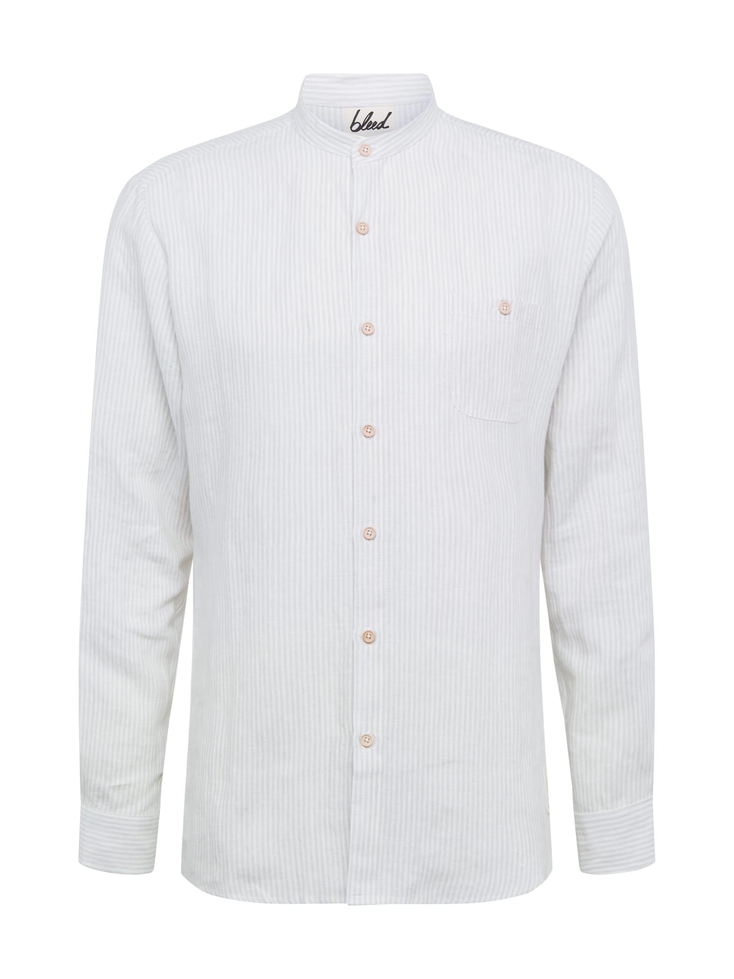 bleed clothing Dalykiniai marškiniai 'Schawola' balta / pilka