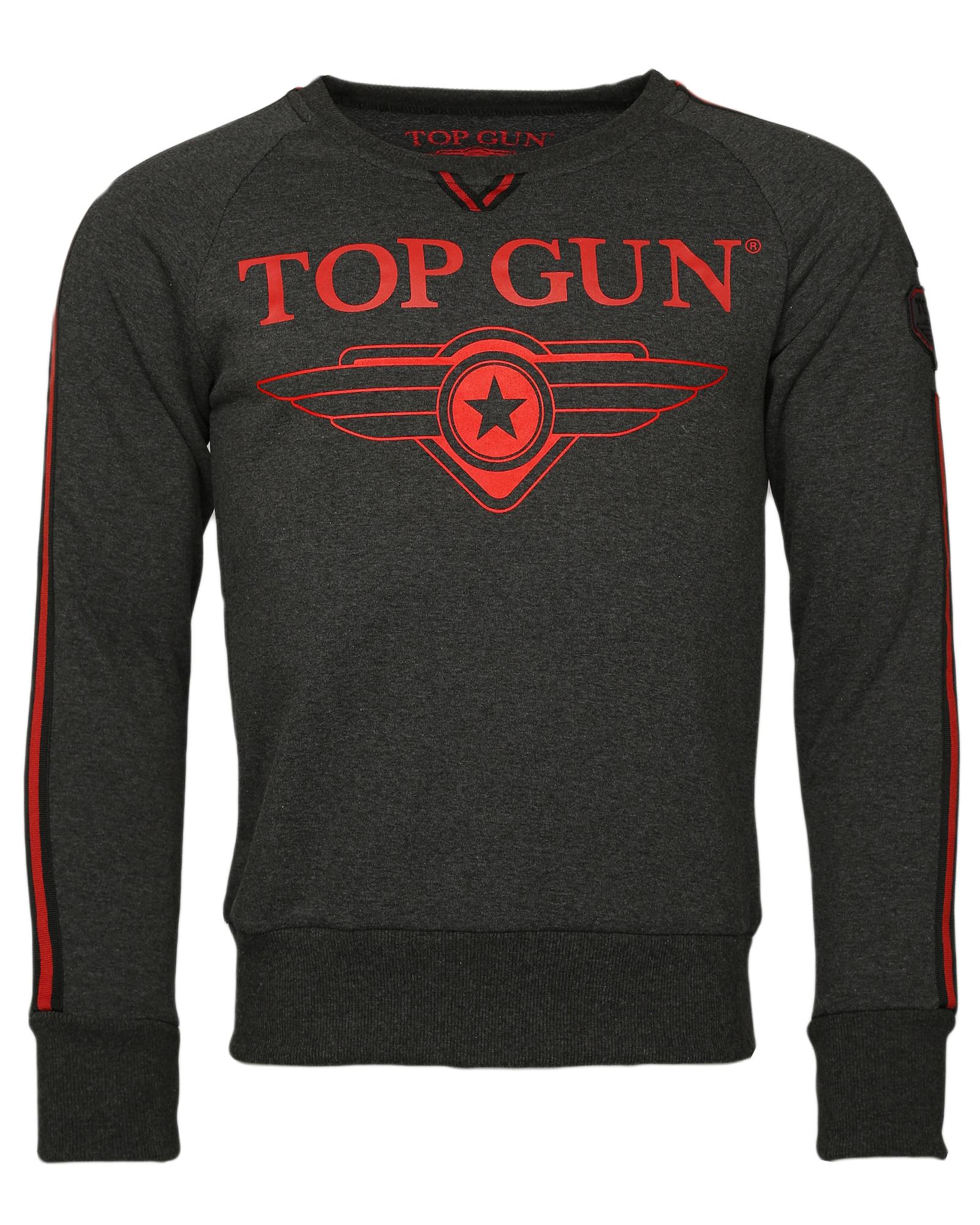 Herren TOP GUN Sweater 'Streak' anthrazit,  rot,  schwarz | 04051845953330