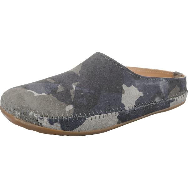 Hausschuhe für Frauen - HAFLINGER Pantoffeln 'Softino' rauchgrau dunkelgrau khaki  - Onlineshop ABOUT YOU