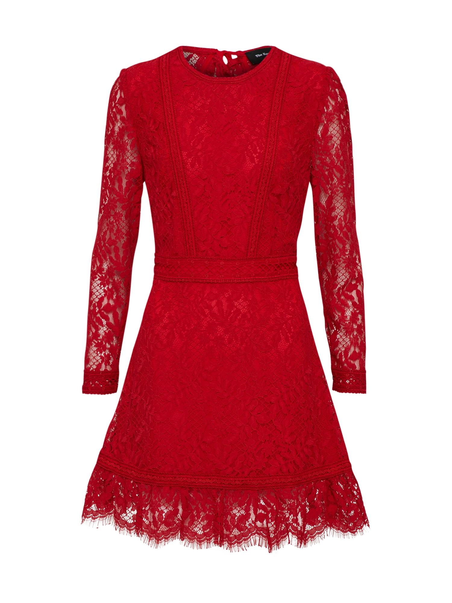 Koktejlové šaty červená třešeň The Kooples