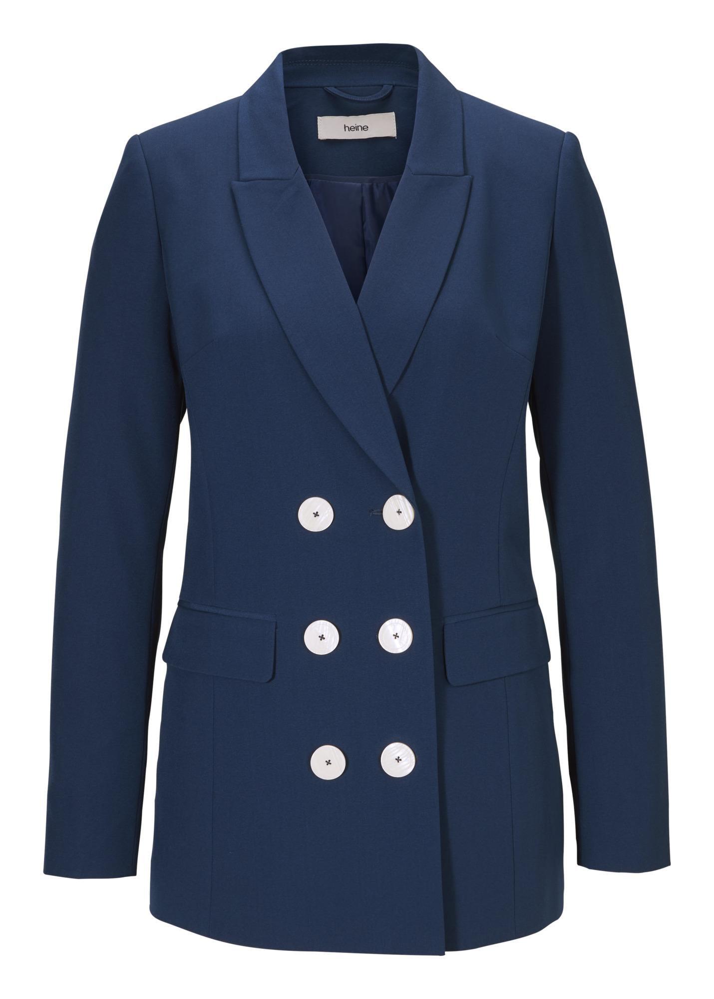 heine Moteriškas kostiumėlis su kelnėmis tamsiai mėlyna