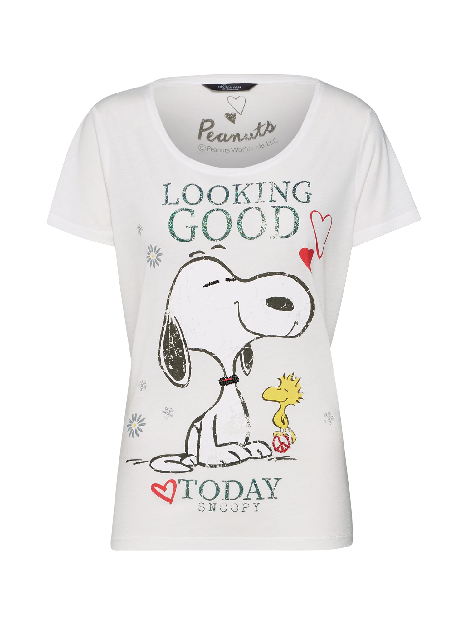 Tričko Peanuts Snoopy looking good t. bílá PRINCESS GOES HOLLYWOOD