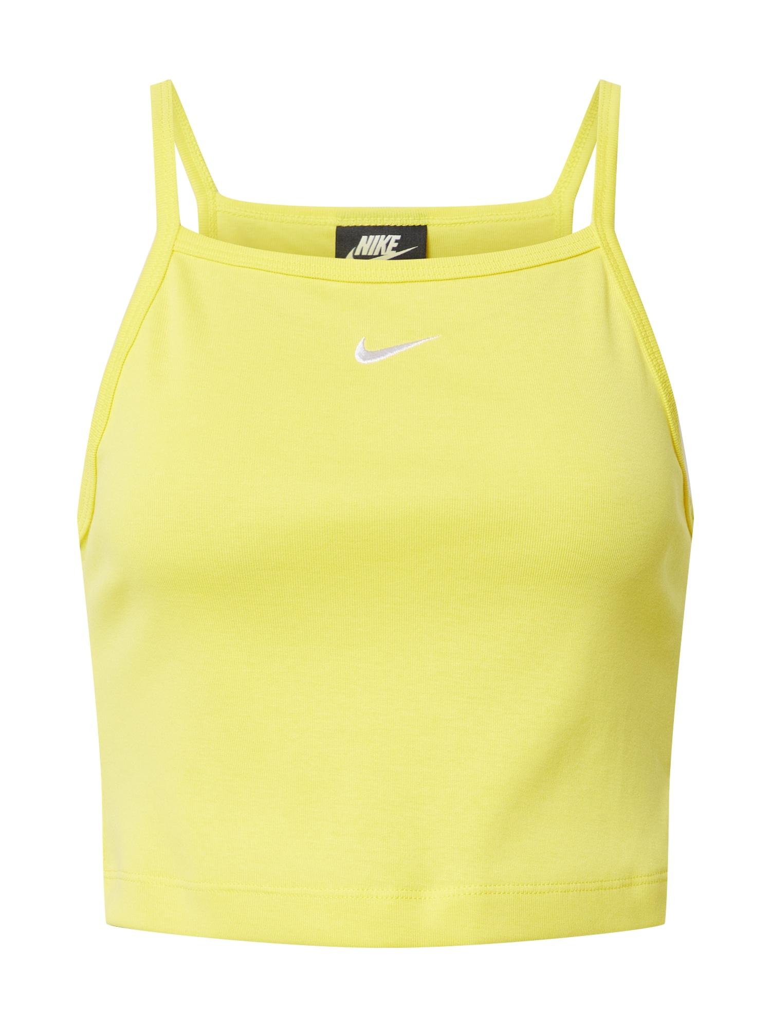 Nike Sportswear Palaidinė be rankovių geltona