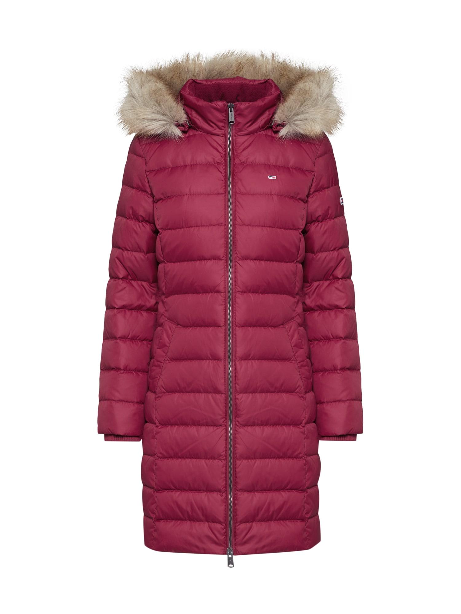 Tommy Jeans Žieminis paltas avietinė