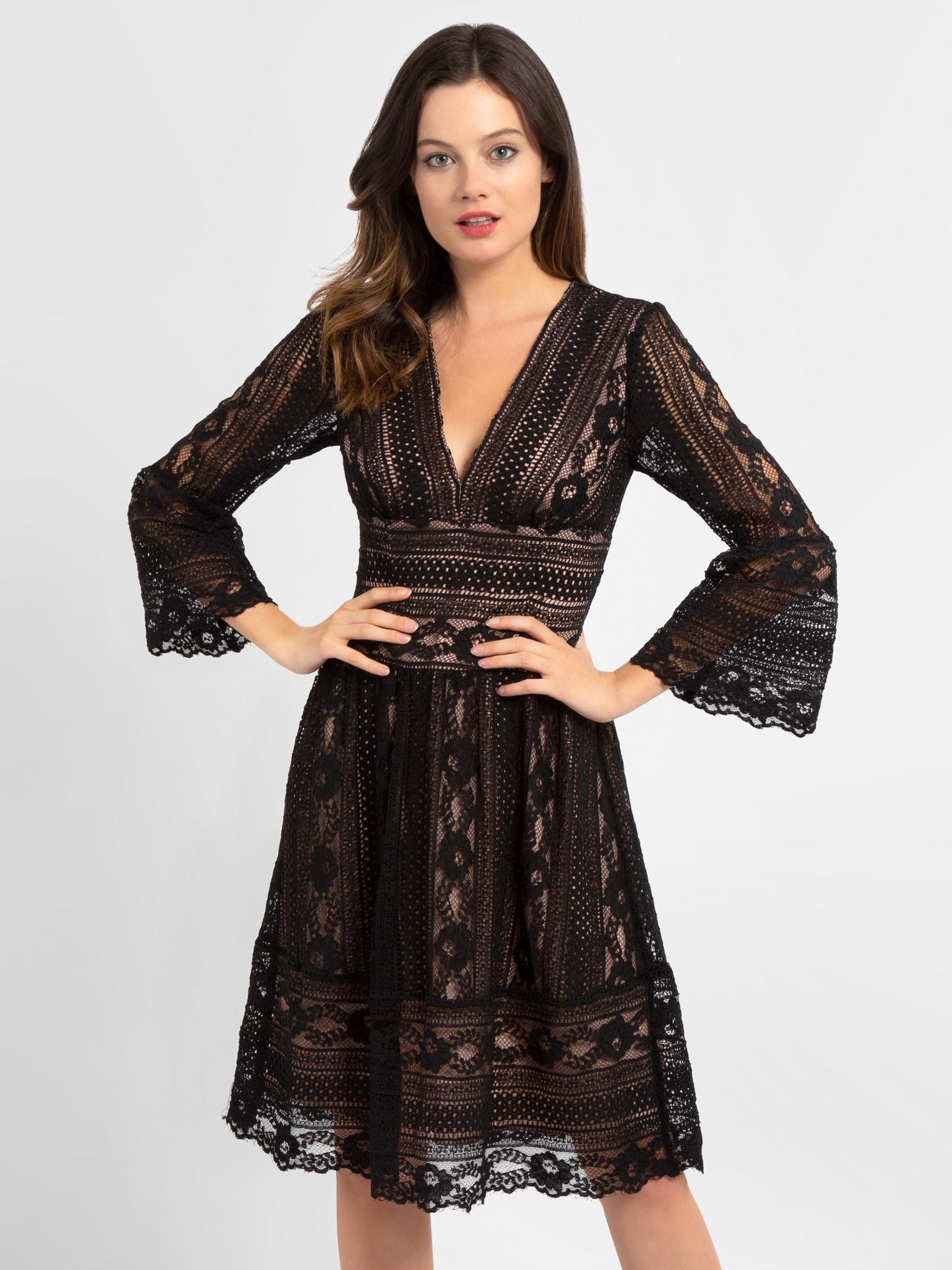 APART Kleid puder / schwarz - Schwarzes Kleid