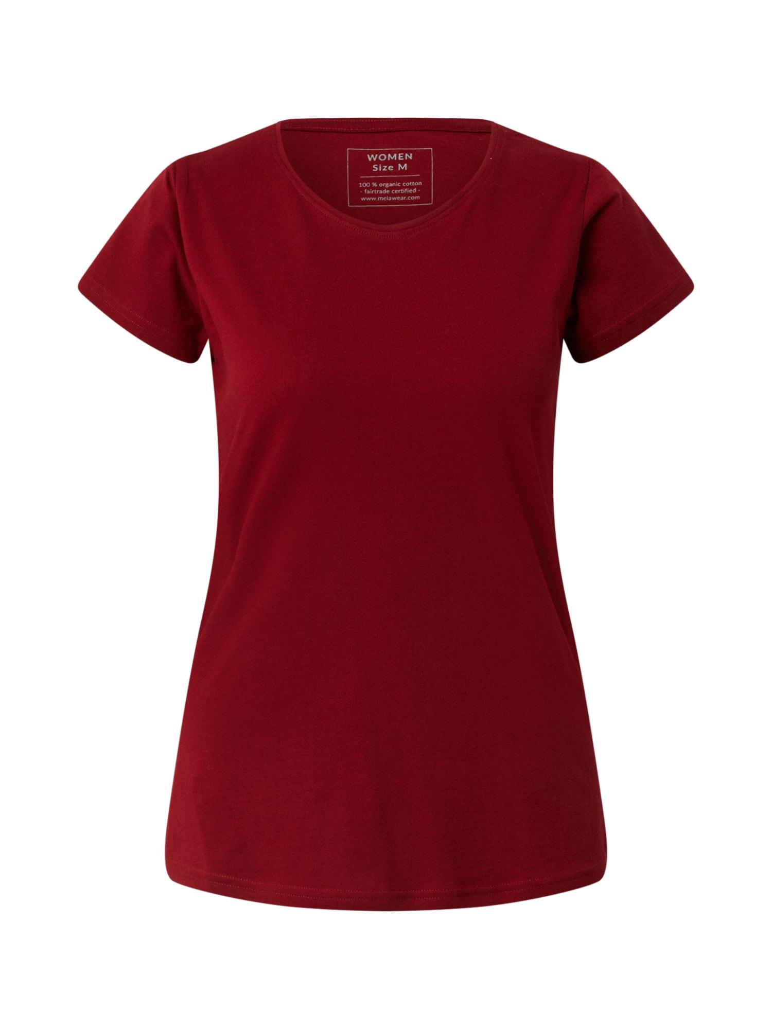 MELAWEAR Marškinėliai burgundiško vyno spalva / raudona