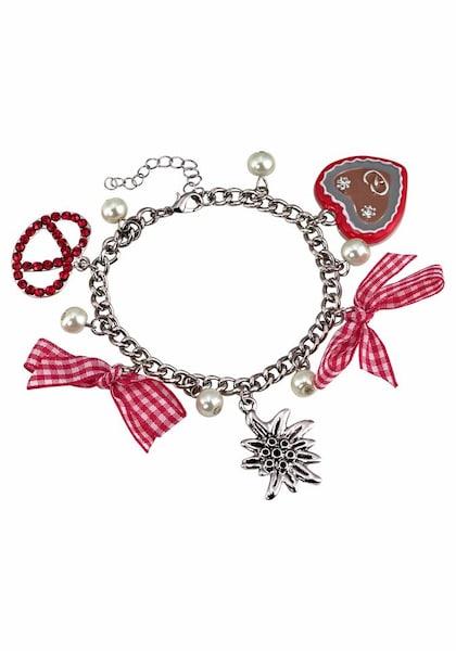 Armbaender für Frauen - J. Jayz Armband pink rot silber  - Onlineshop ABOUT YOU