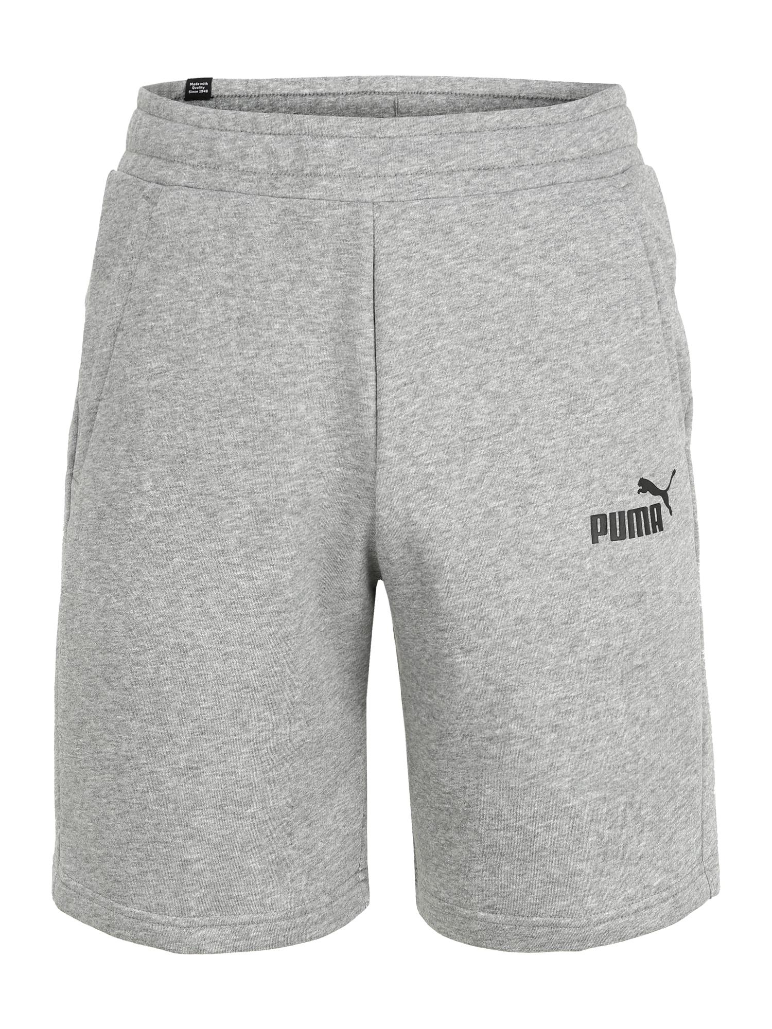 PUMA Sportinės kelnės margai pilka / juoda