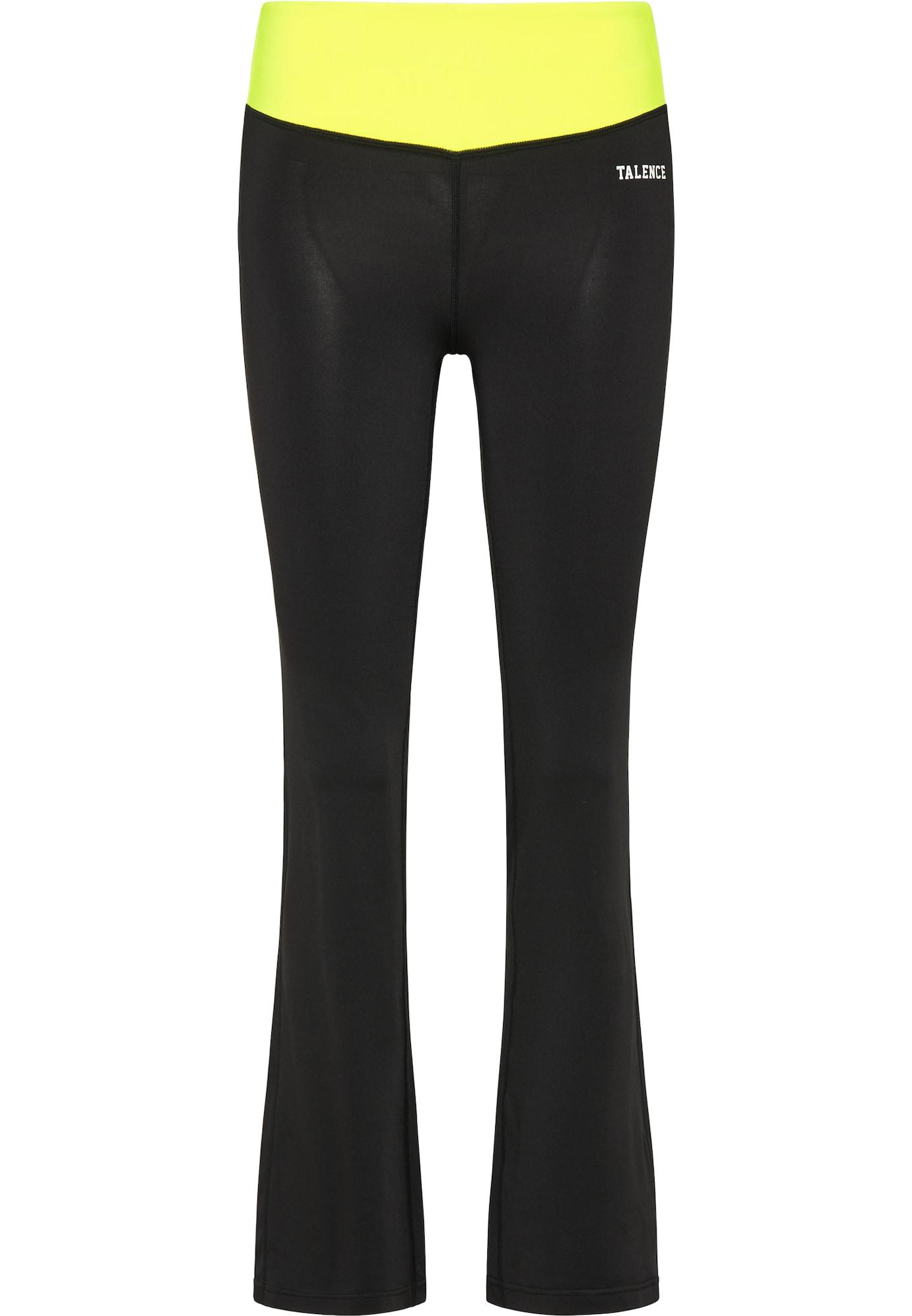TALENCE Funkcinės kelnės juoda / neoninė geltona