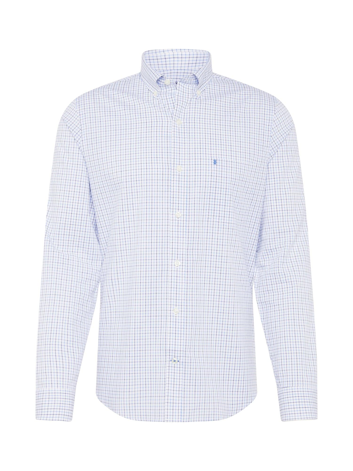 Společenská košile POPLIN modrá bílá IZOD