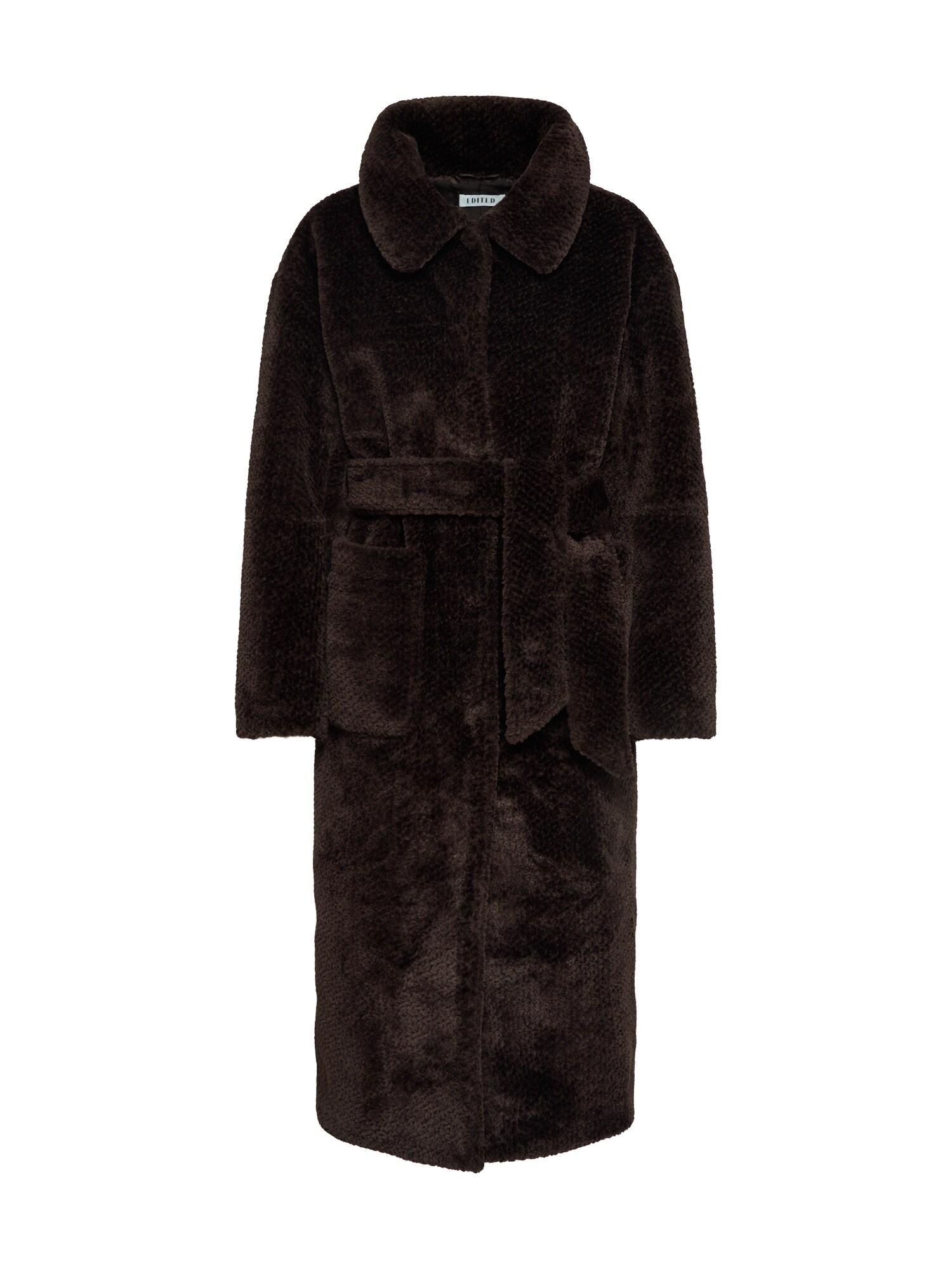 EDITED Žieminis paltas 'Nacla' ruda / tamsiai ruda