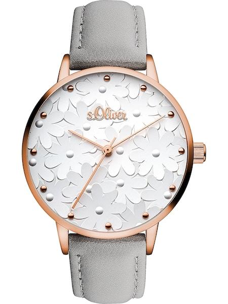 Uhren für Frauen - S.Oliver Uhr 'SO 3467 LQ' rosegold grau  - Onlineshop ABOUT YOU