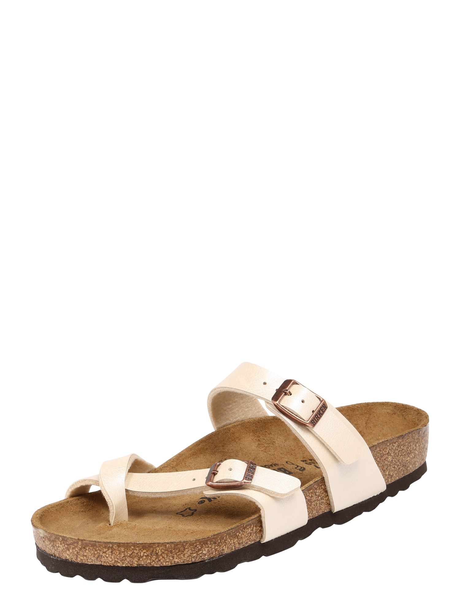 Pantofle Mayari béžová hnědá BIRKENSTOCK