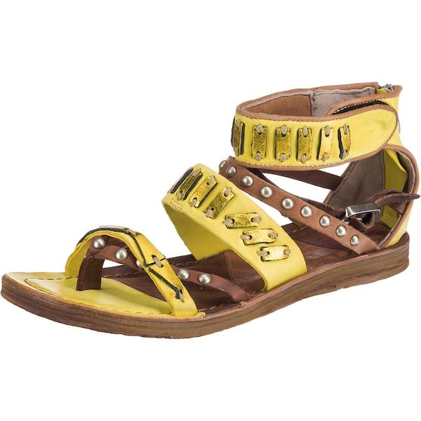 Sandalen für Frauen - A.S.98 Riemchensandalen braun gelb  - Onlineshop ABOUT YOU