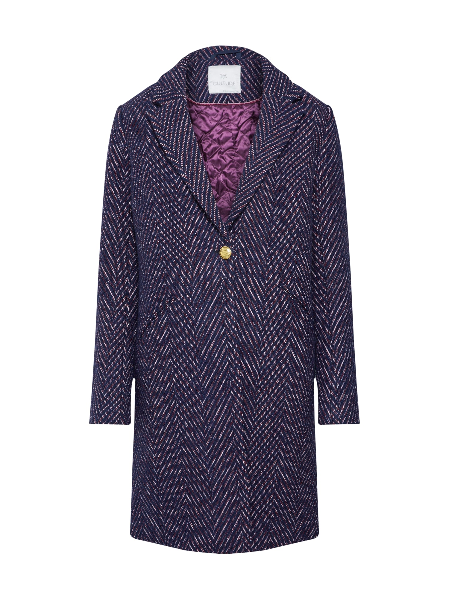 Zimní kabát Minja tmavě modrá tmavě fialová CULTURE