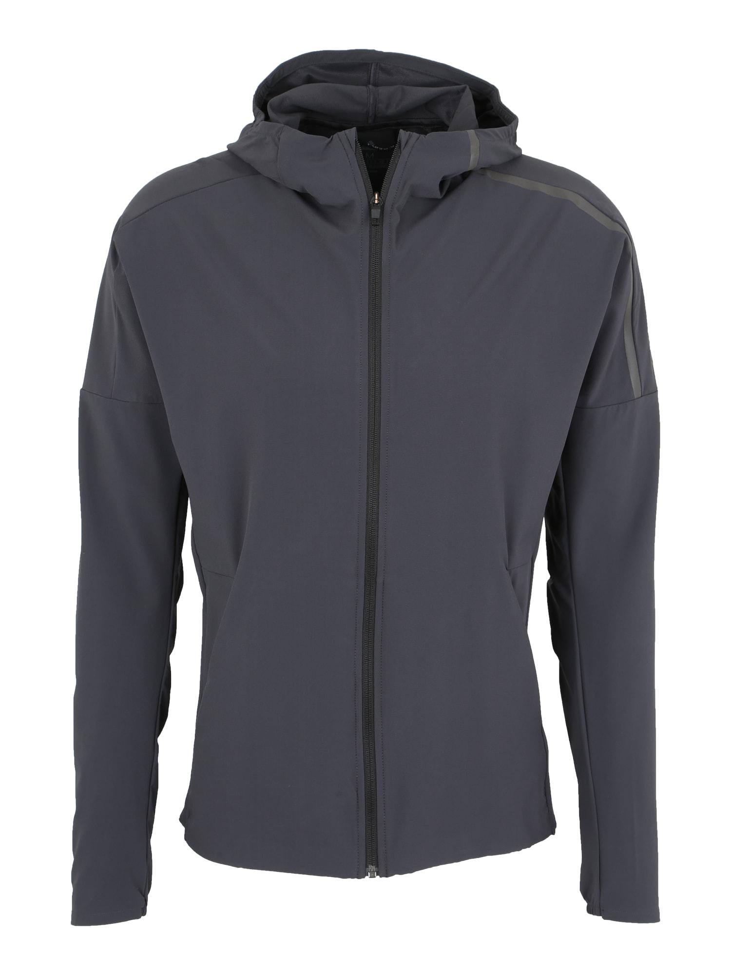 Sportovní bunda Z.N.E. tmavě šedá ADIDAS PERFORMANCE