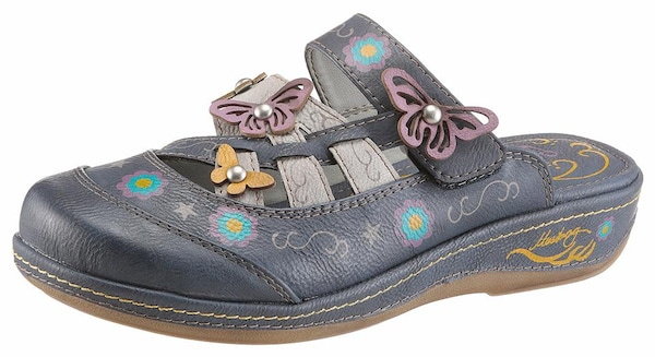 Clogs für Frauen - MUSTANG Clog blau gelb lila  - Onlineshop ABOUT YOU