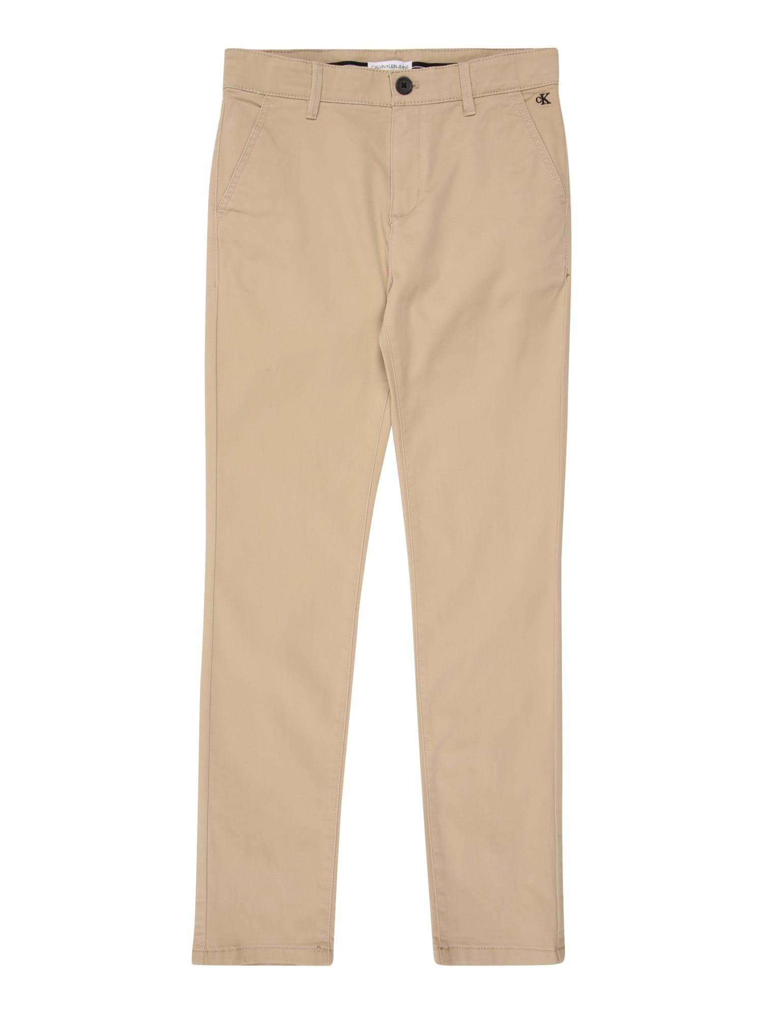 Calvin Klein Jeans Kelnės 'SKINNY CHINO PANT' smėlio
