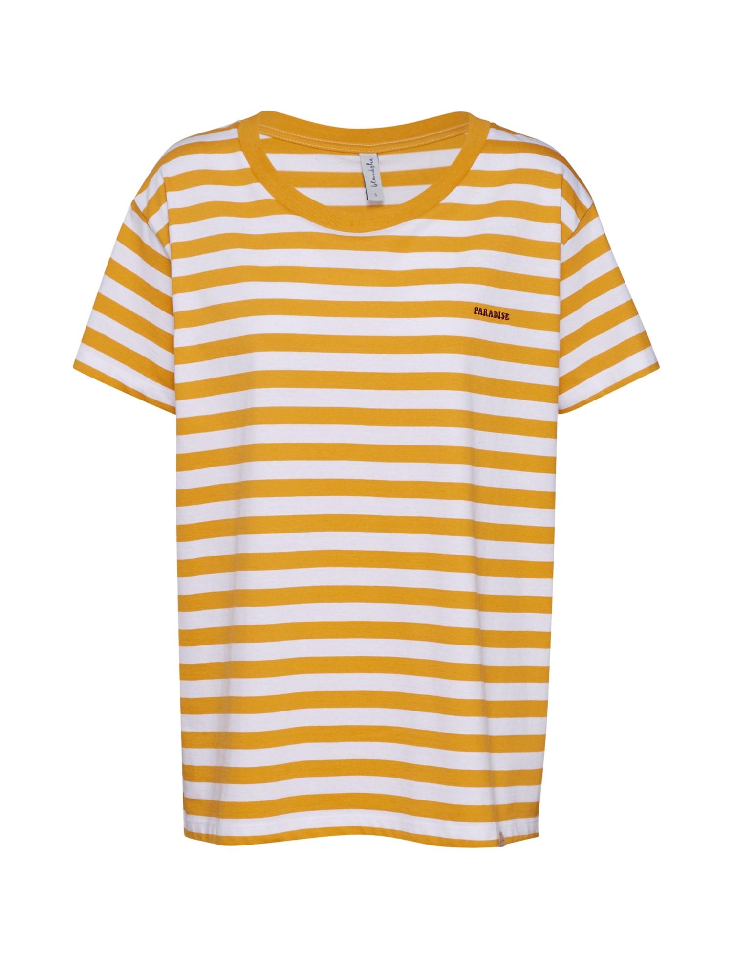 Blend She Marškinėliai 'BSPICCO L CROP SS' oranžinė / balta