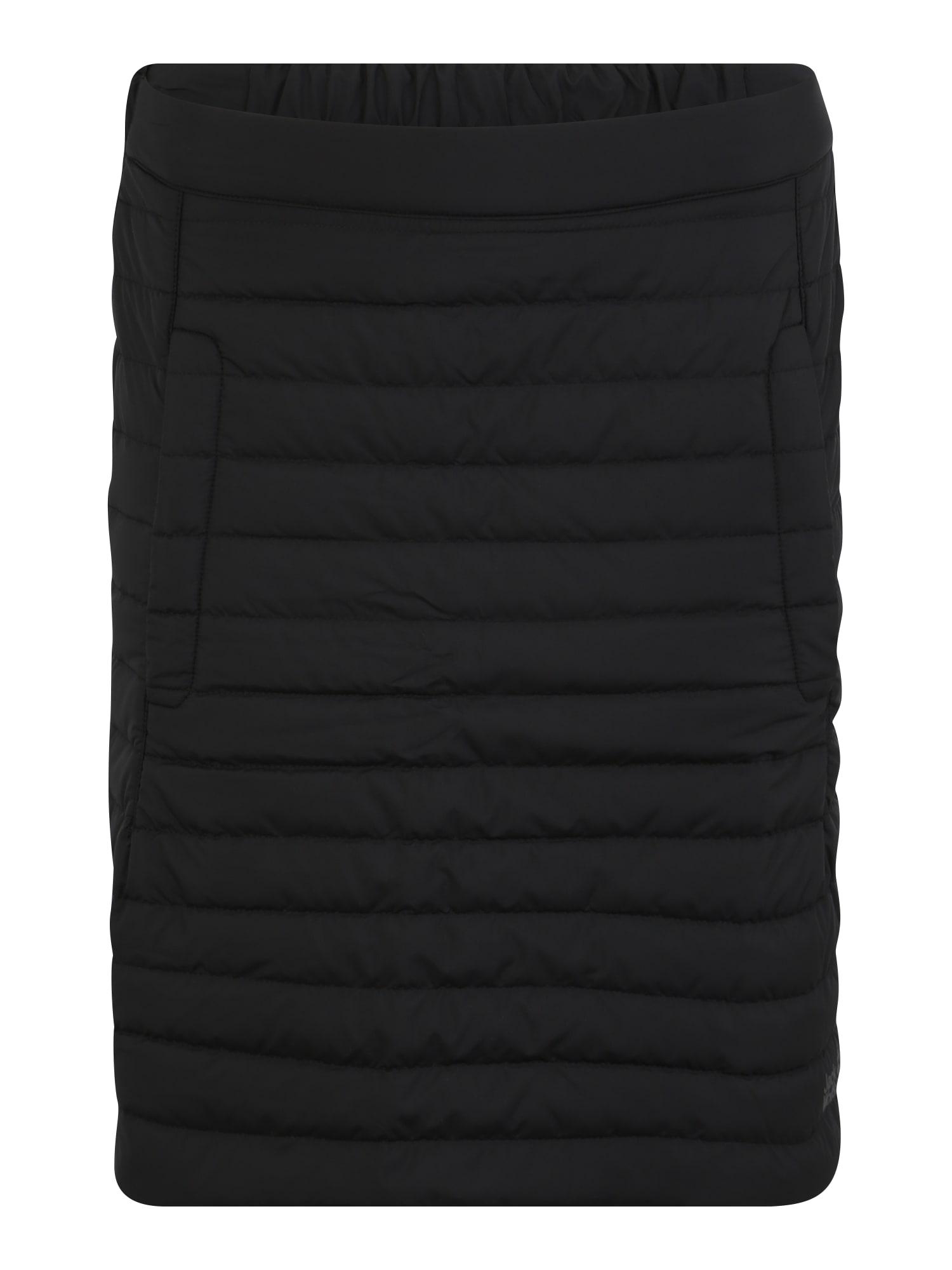 JACK WOLFSKIN Sportinio stiliaus sijonas 'ICEGUARD' juoda