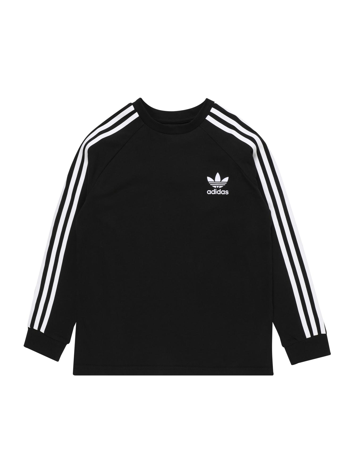 ADIDAS ORIGINALS Tričko '3 Stripes'  biela / čierna