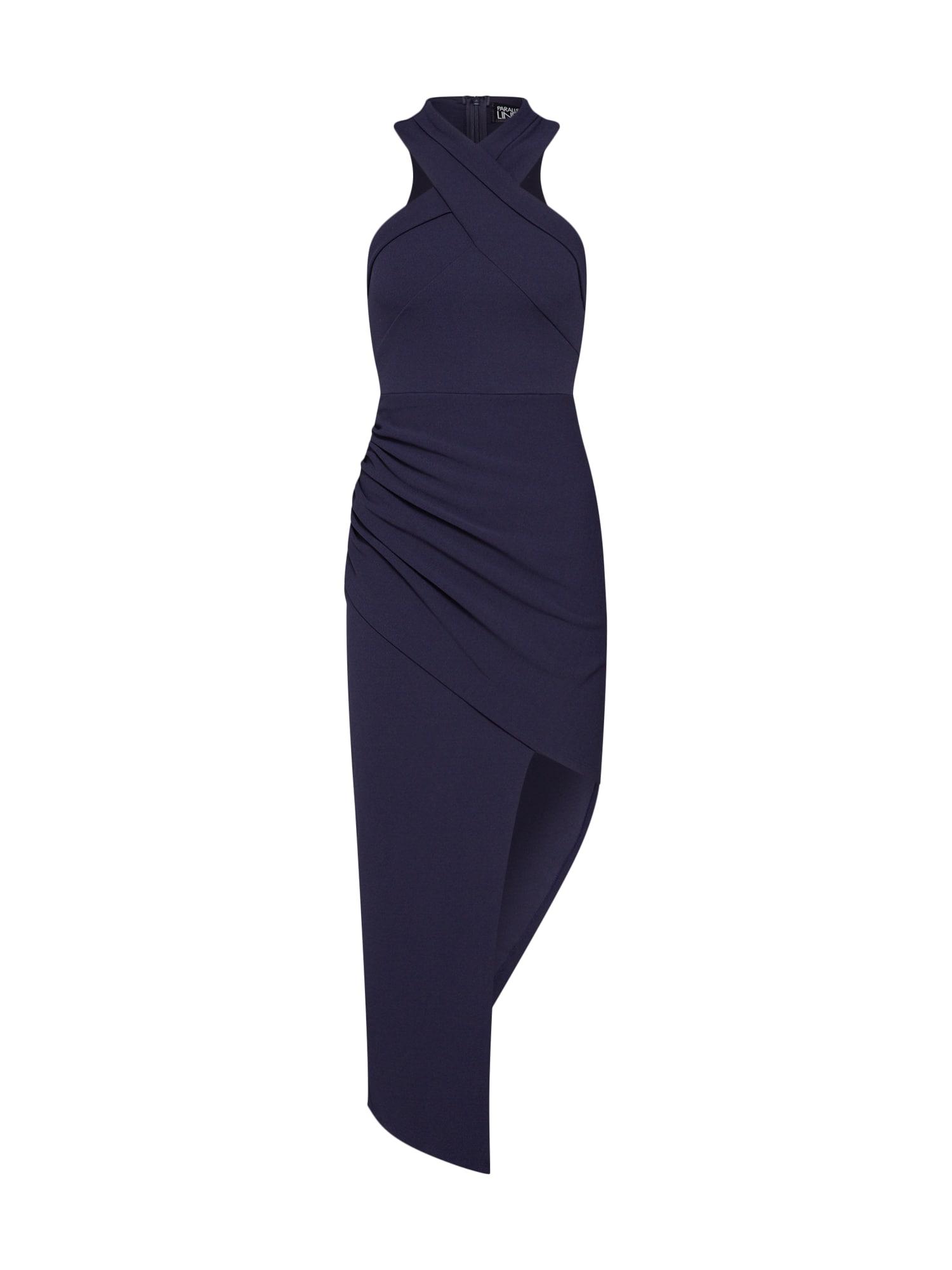 Pouzdrové šaty Silhouette námořnická modř Parallel Lines
