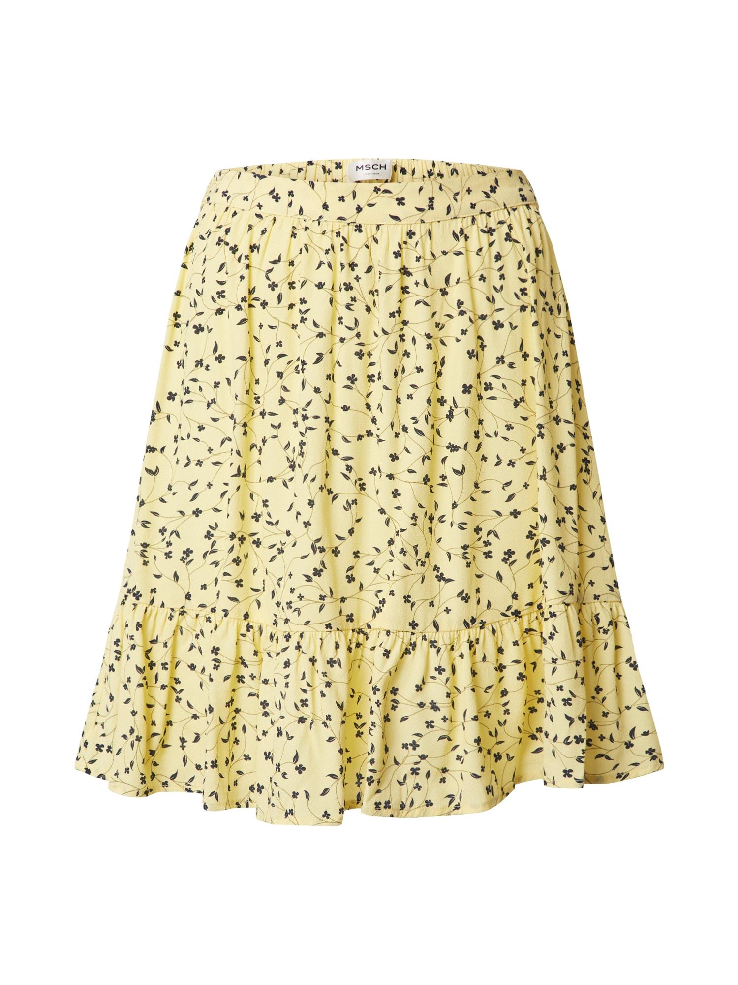 MOSS COPENHAGEN Sukňa 'Jillian'  biela / žlté