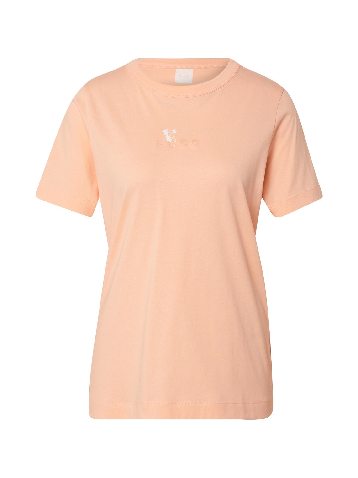 BOSS Marškinėliai 'Tefriendly' abrikosų spalva