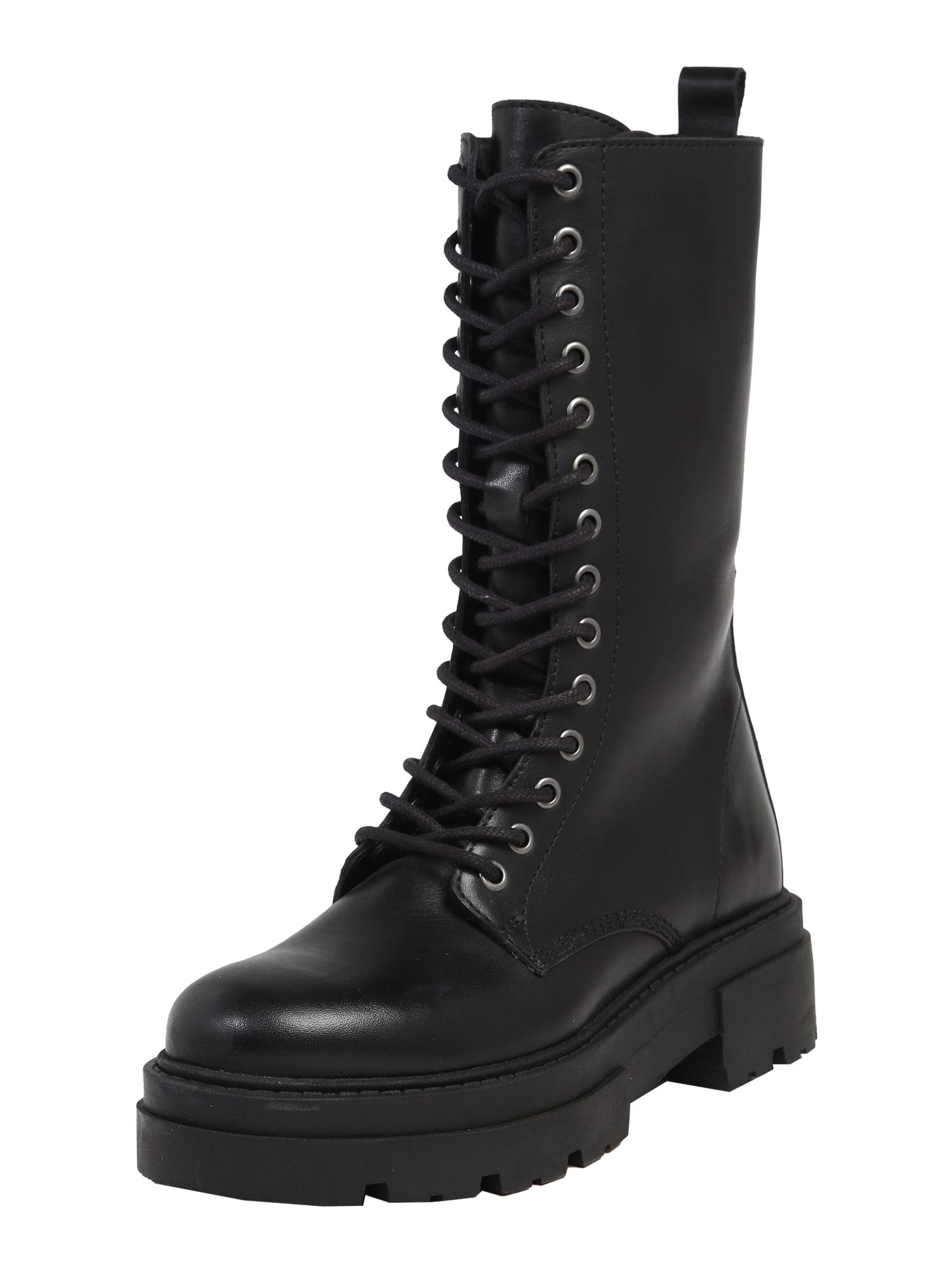 ABOUT YOU Šněrovací boty 'Lavinia'  černá