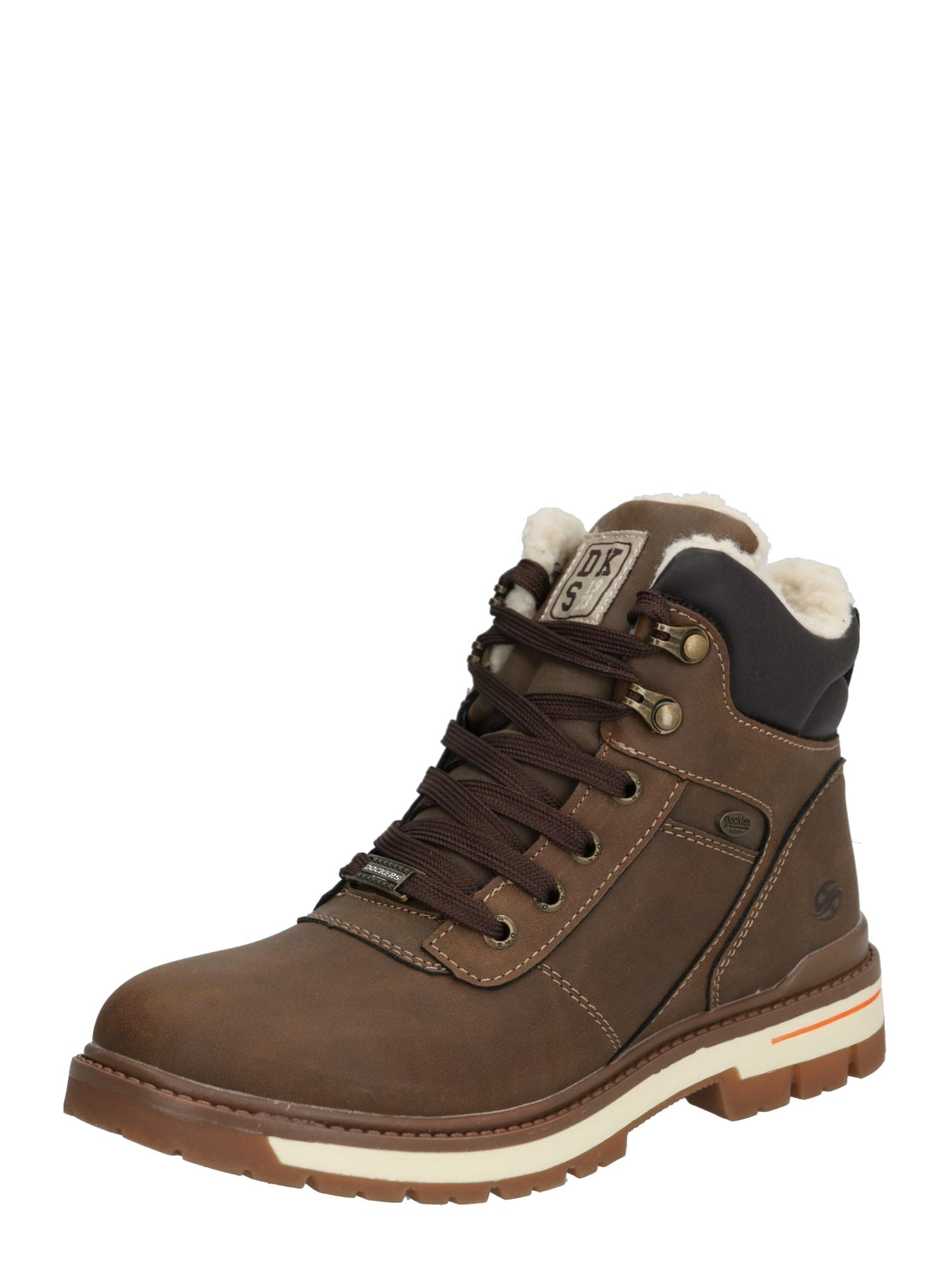 Dockers by Gerli Auliniai batai su kulniuku '45TG702' tamsiai ruda / juoda