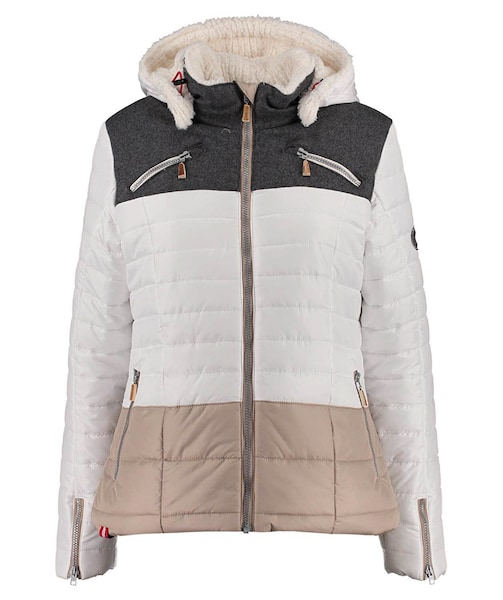 Jacken - Jacke 'Stuppach OP' › Almgwand › hellbeige anthrazit weiß  - Onlineshop ABOUT YOU