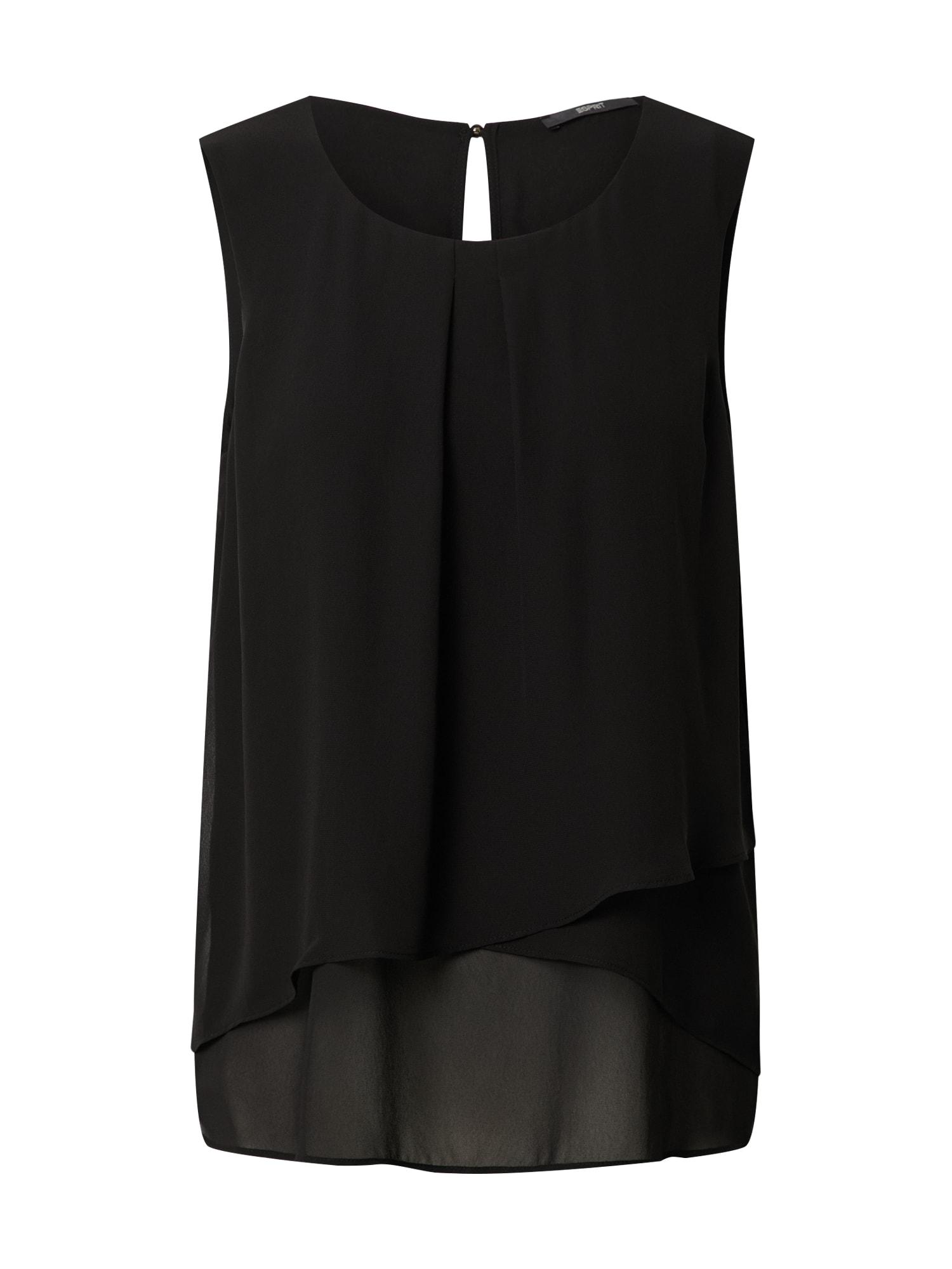 Esprit Collection Palaidinė 'Woven' juoda