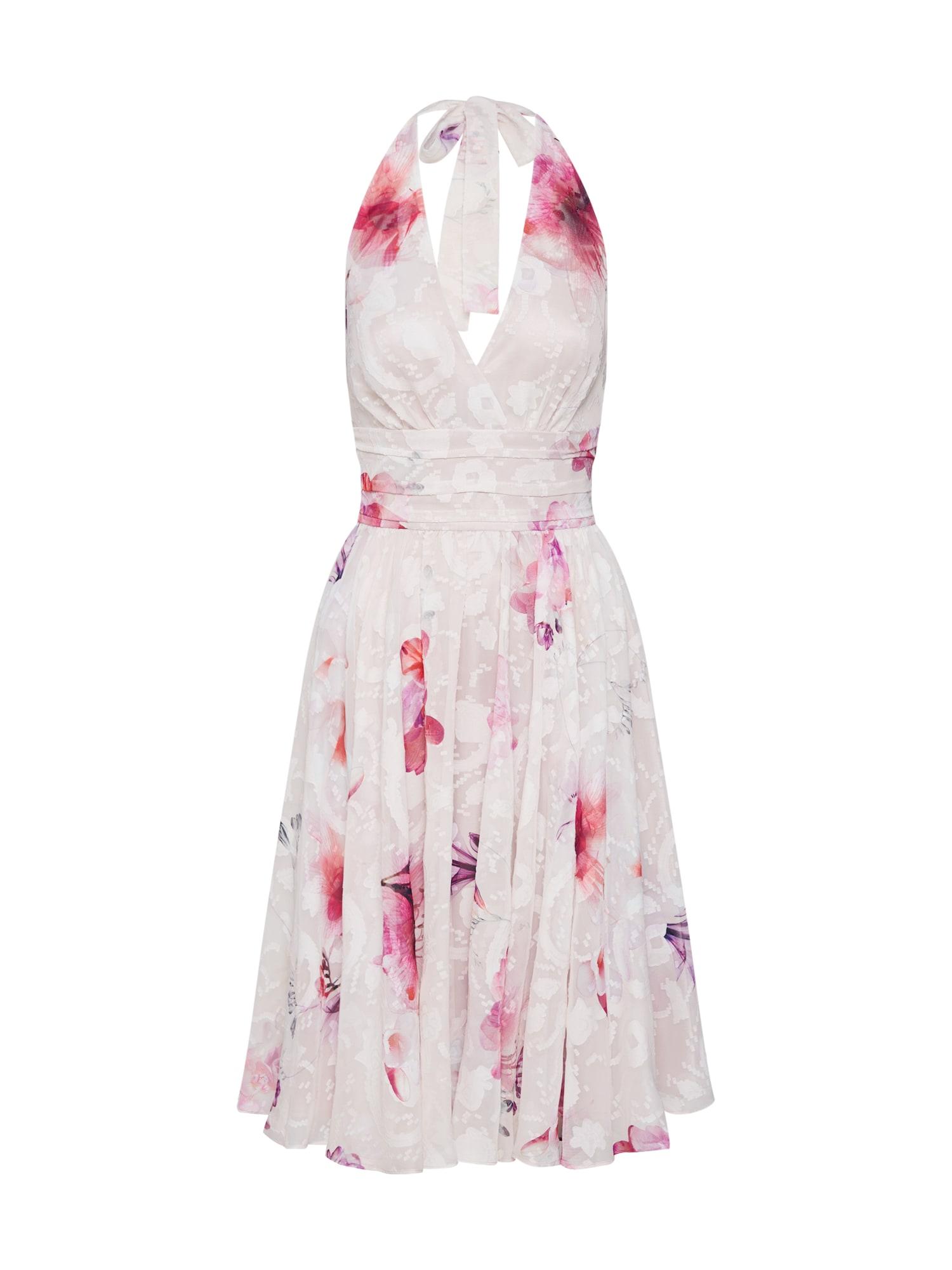 Koktejlové šaty Kleid - Chiffon mix barev růžová SWING