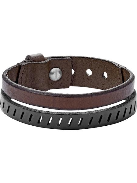 Armbaender für Frauen - FOSSIL Armband 'VINTAGE' dunkelbraun schwarz  - Onlineshop ABOUT YOU