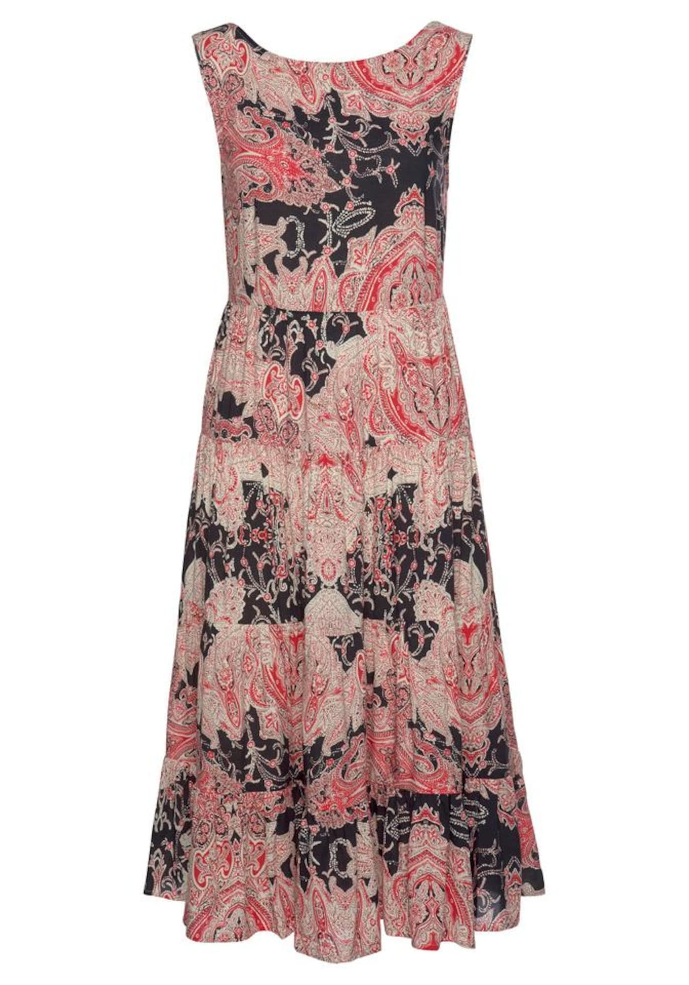 LASCANA Plážové šaty  červené / čierna