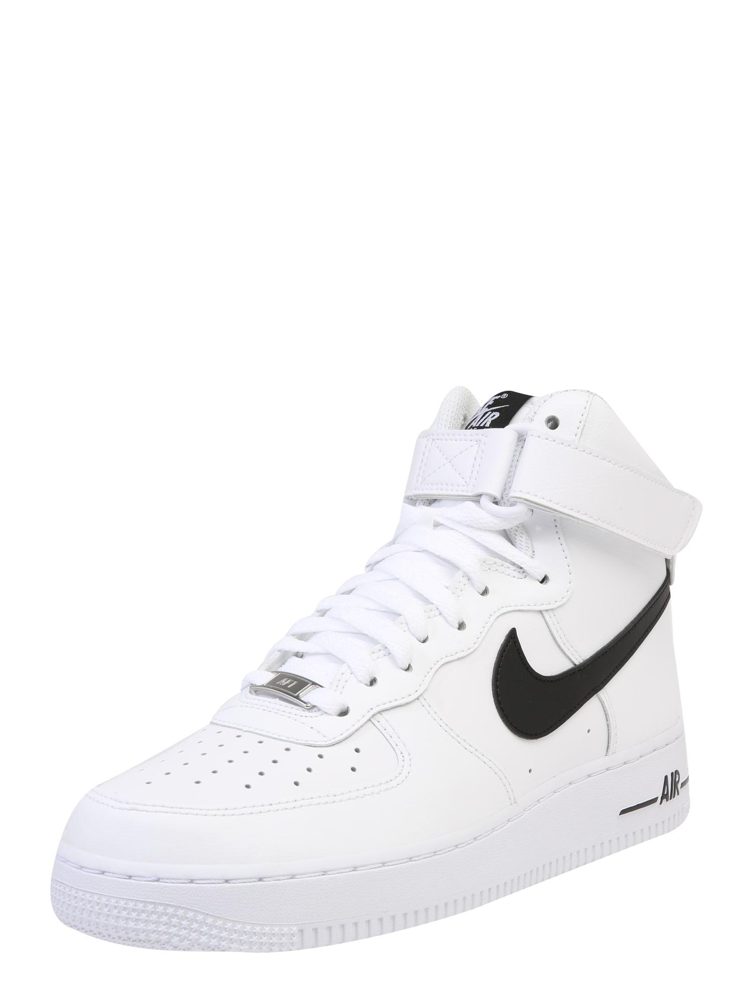 Nike Sportswear Sportbačiai su auliuku 'Air Force' juoda / balta
