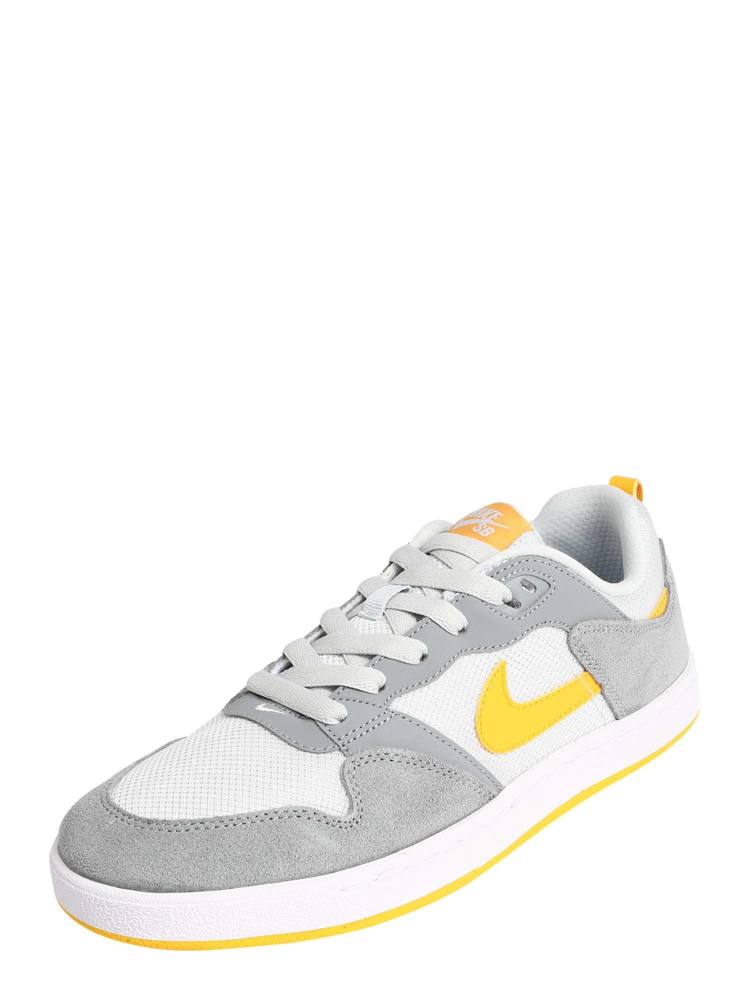 Nike SB Nízke tenisky 'Alleyoop'  biela / žlté / sivá