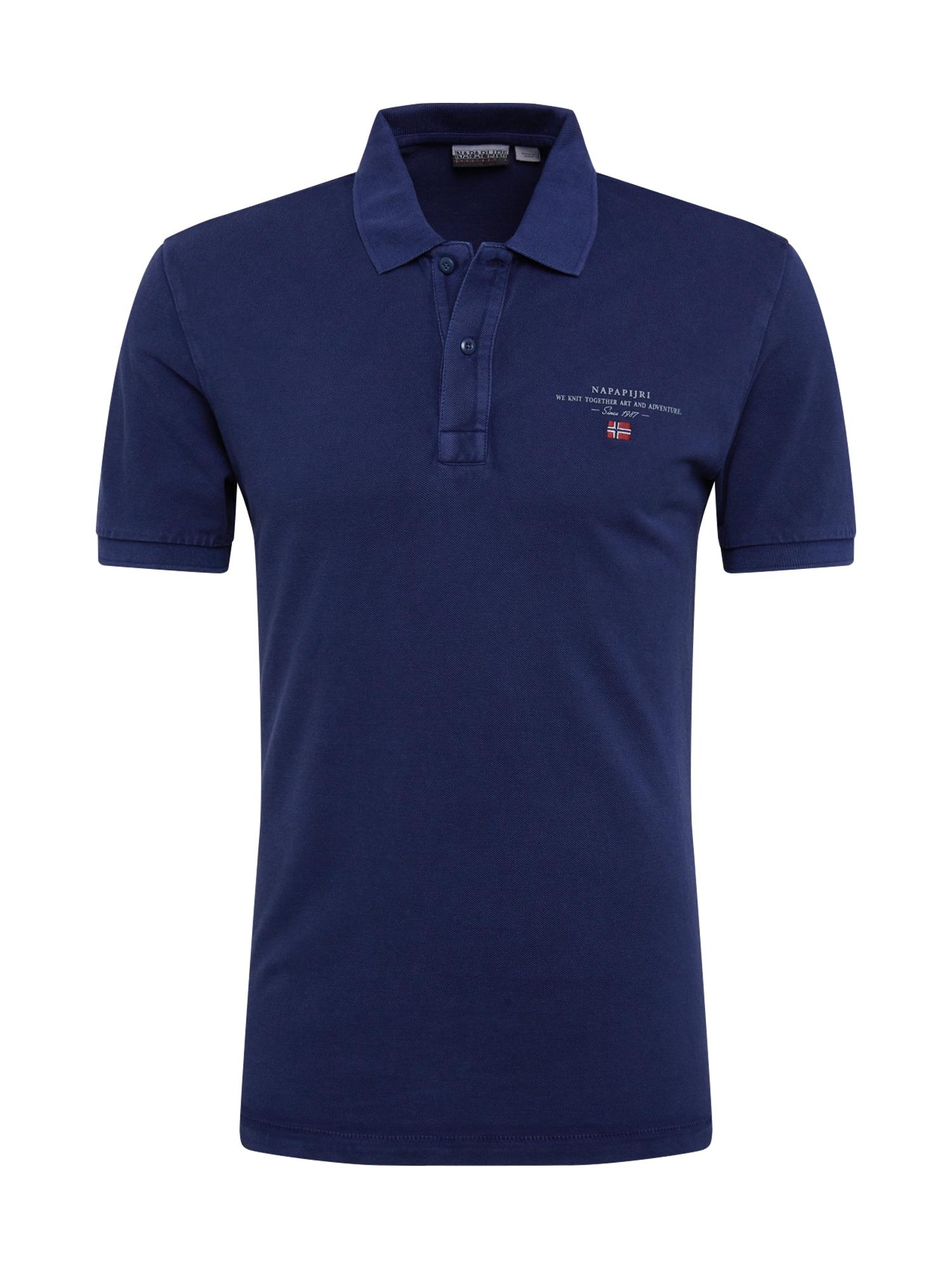NAPAPIJRI Tričko 'ELBAS 3'  modrá / bílá / červená