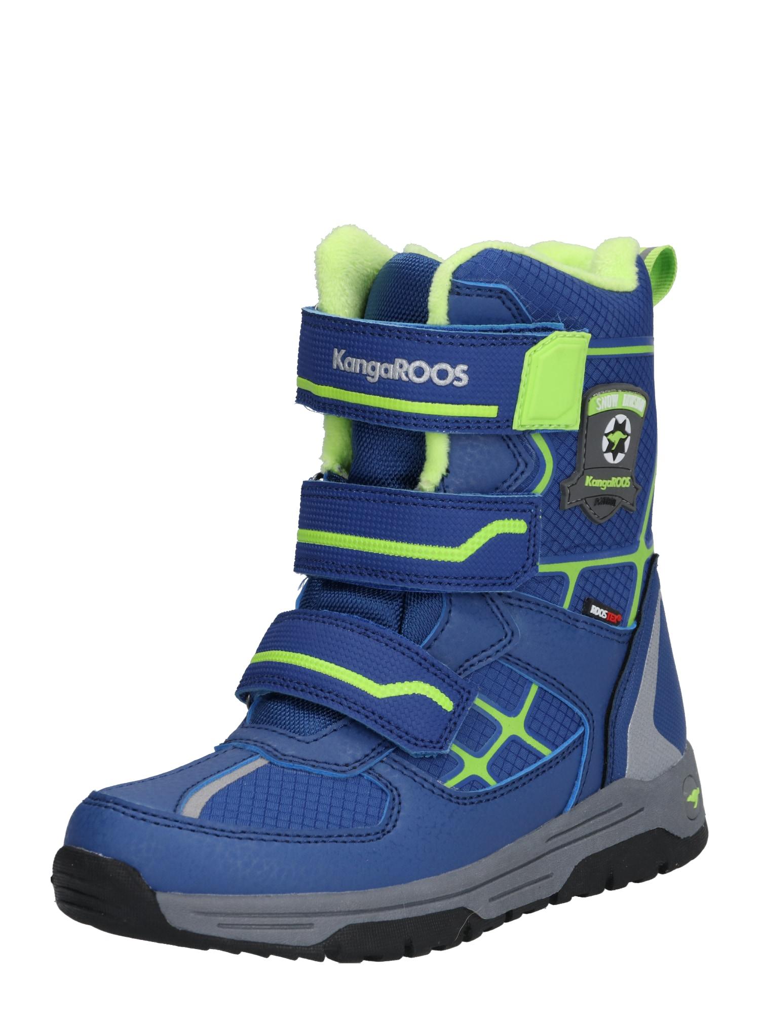 KangaROOS Sniego batai 'K-Marshal V RTX' tamsiai mėlyna / žaliosios citrinos spalva