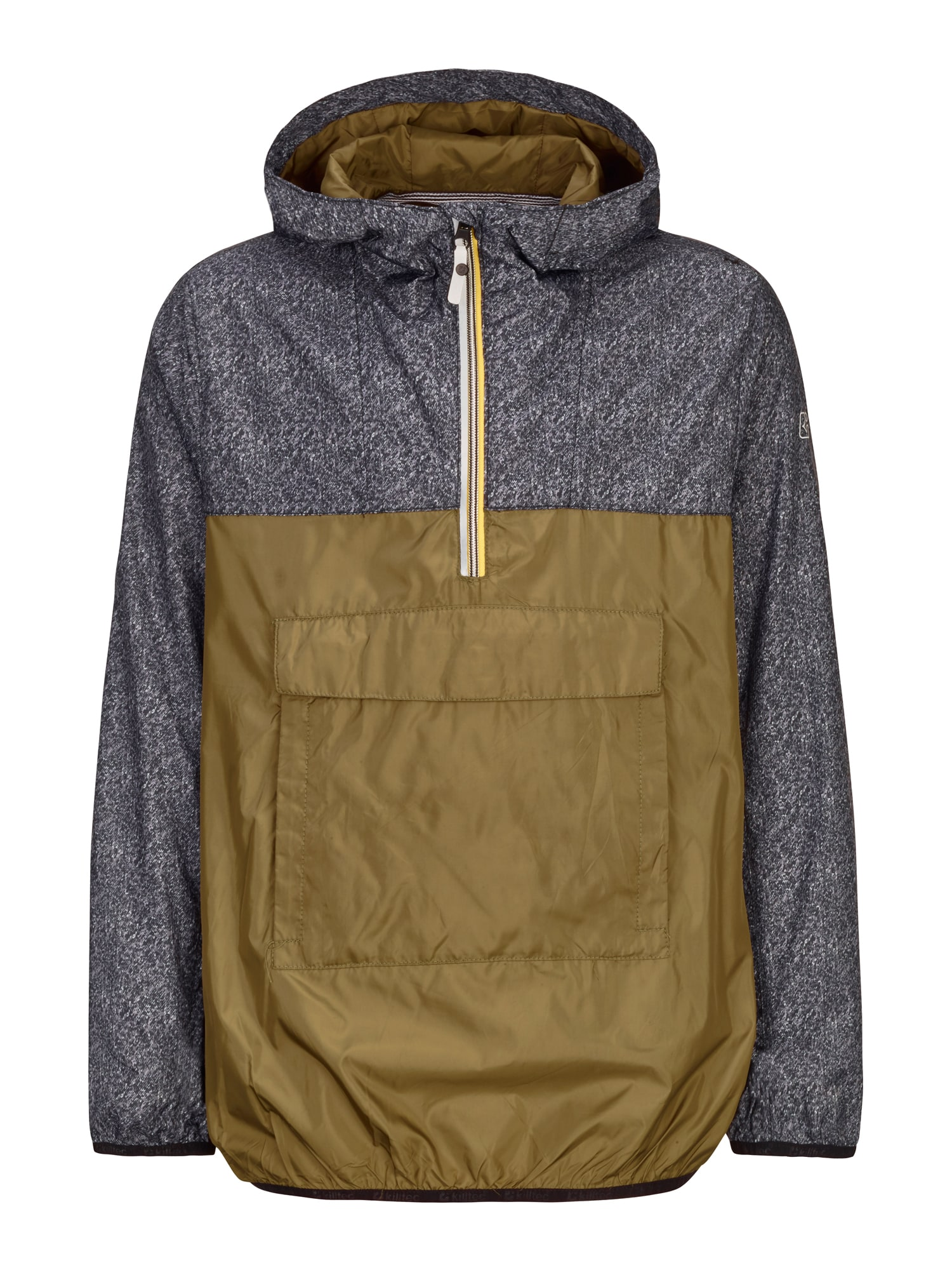 KILLTEC Funkčná bunda  sivá melírovaná / olivová
