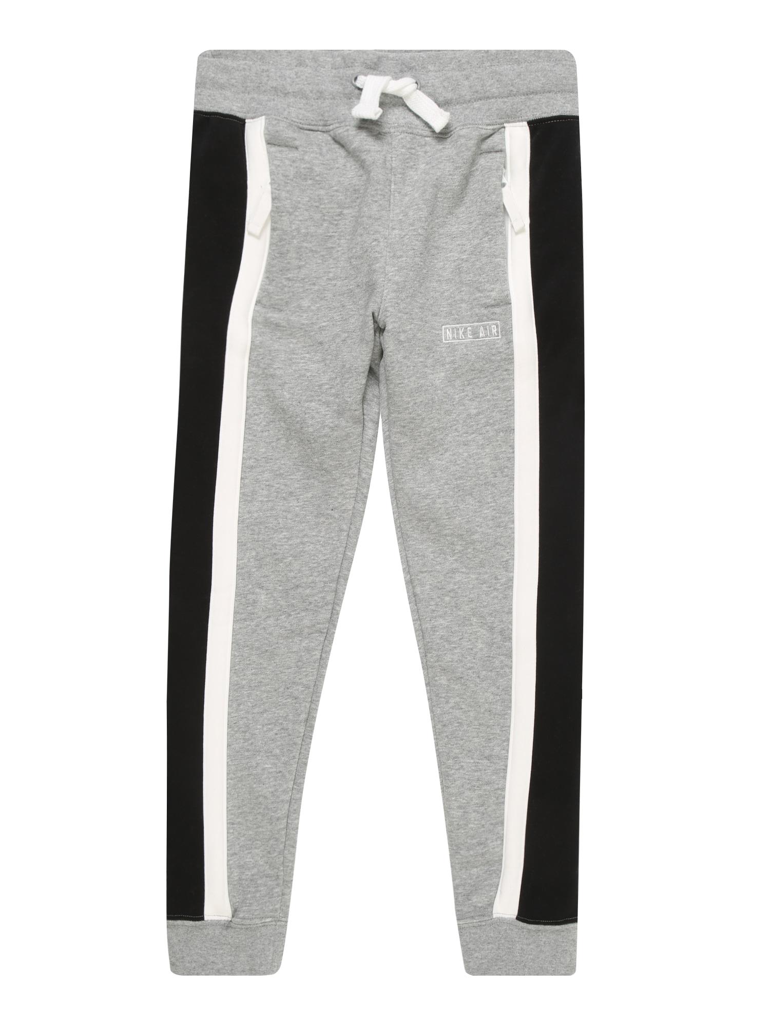 Nike Sportswear Kelnės pilka / juoda / balta