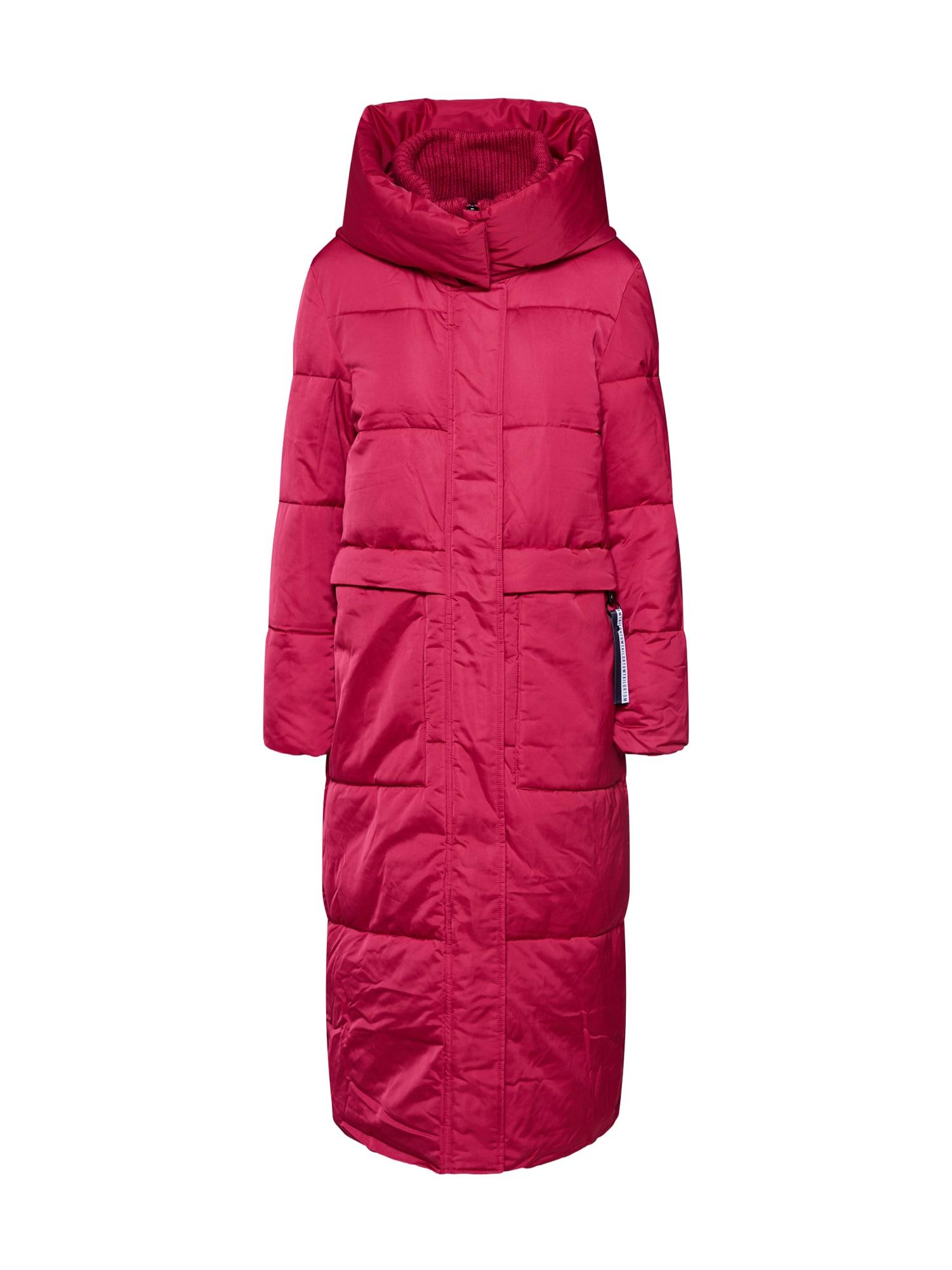 TOM TAILOR Žieminis paltas spanguolių spalva