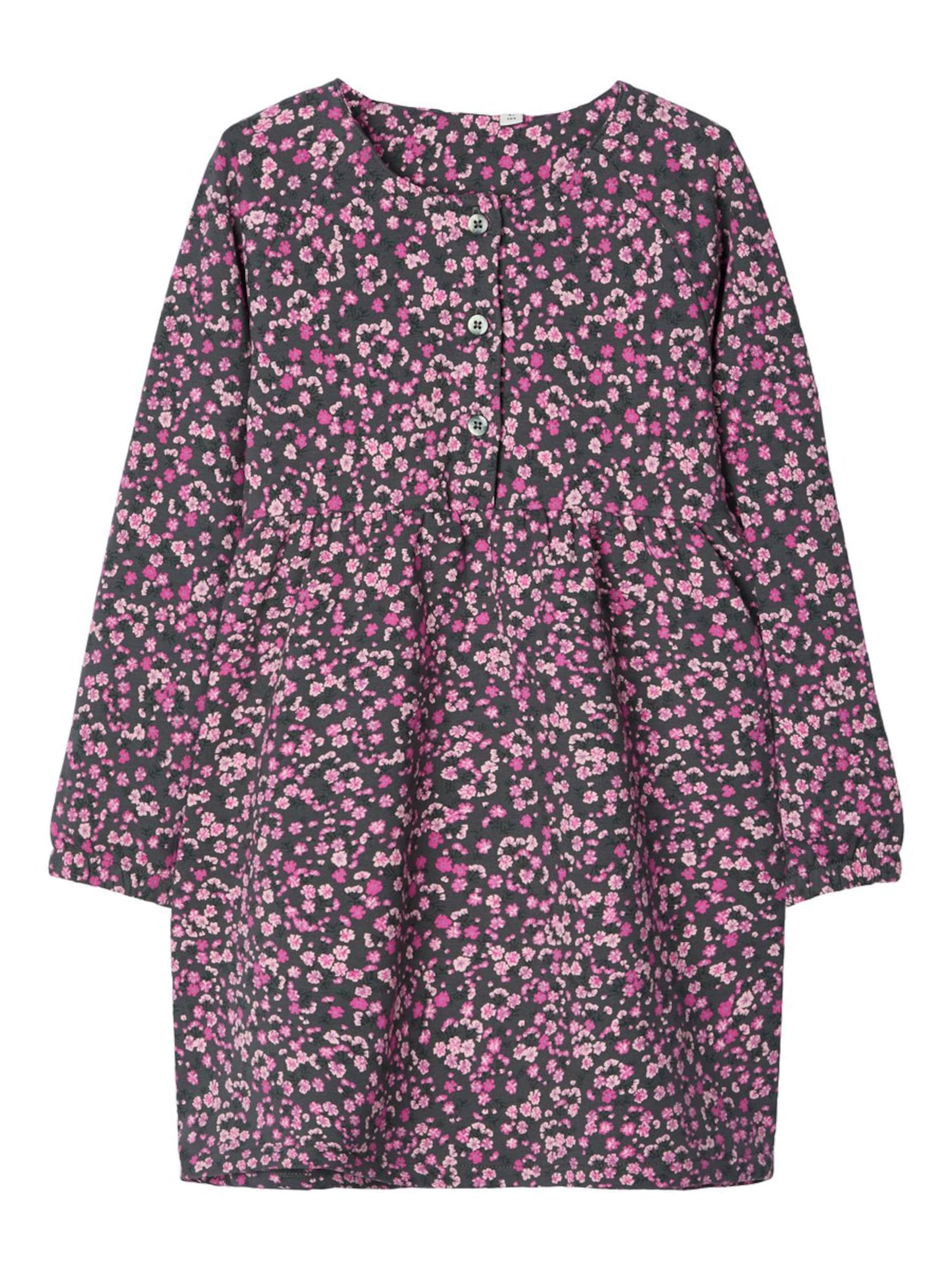 Kinder,  Mädchen,  Kinder NAME IT Kleid braun, grau,  pink, rot, schwarz | 05714500874584