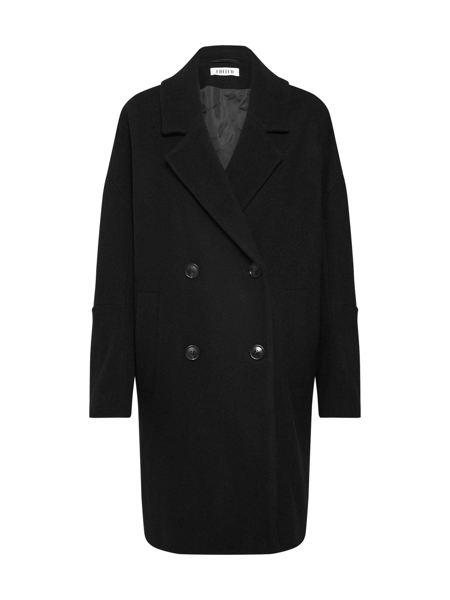 EDITED Demisezoninis paltas 'Hanne' juoda