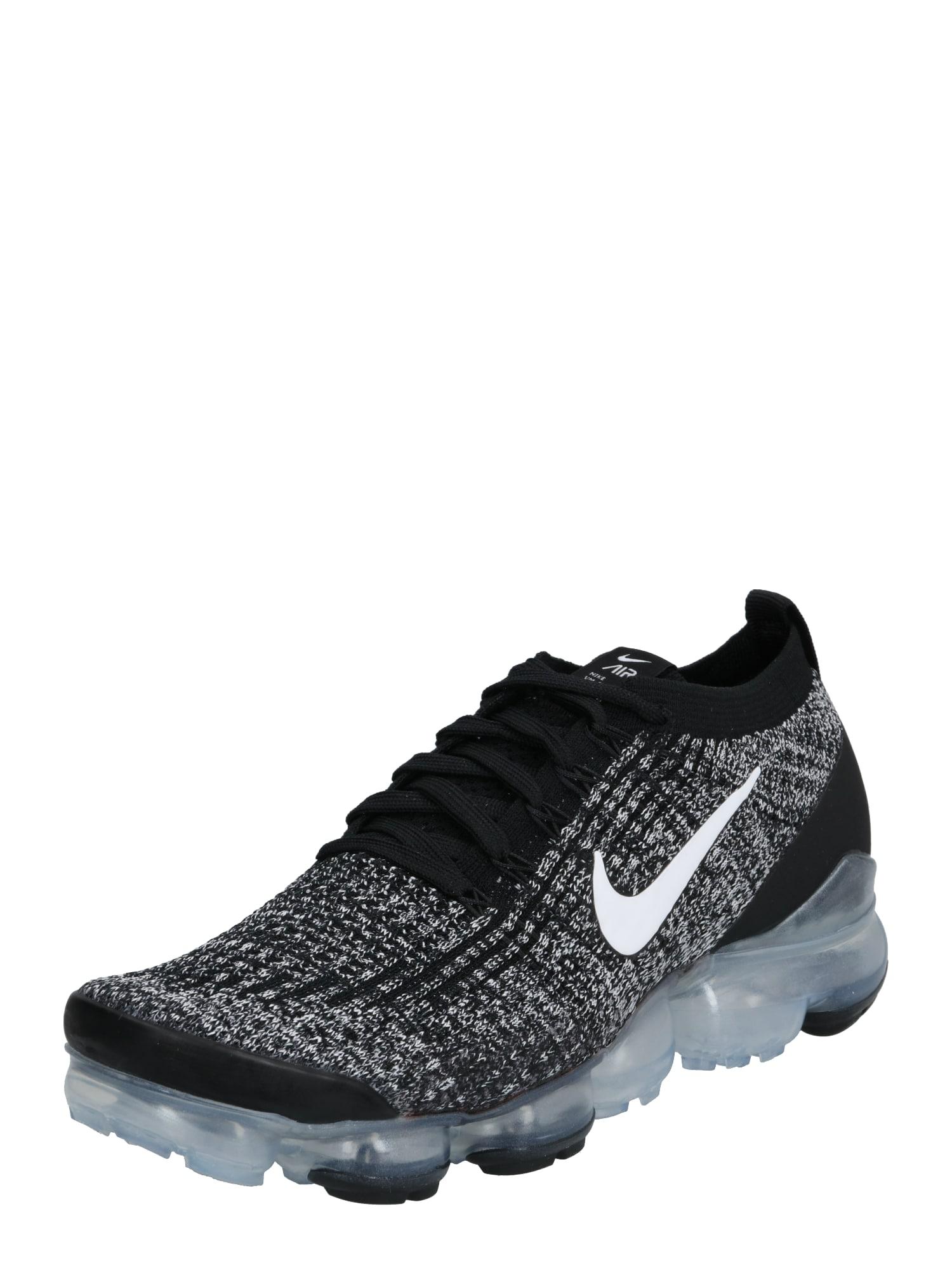 Nike Sportswear Sportbačiai be auliuko 'Nike Air VaporMax Flyknit 3' sidabras / juoda / balta