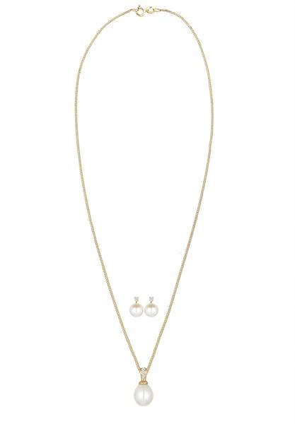 Schmucksets für Frauen - Diamore Schmuckset gold perlweiß  - Onlineshop ABOUT YOU