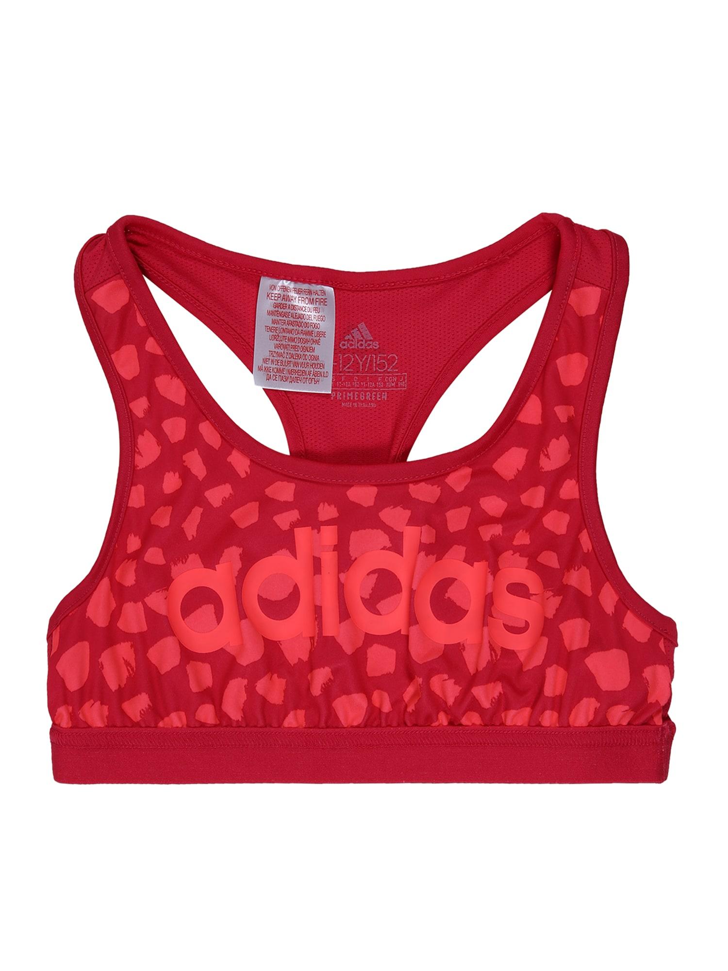 ADIDAS PERFORMANCE Sportiniai marškinėliai be rankovių karmino raudona / šviesiai raudona