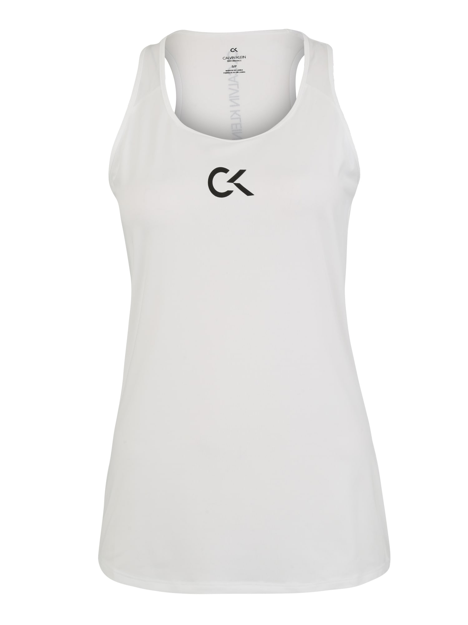 Sportovní top černá bílá Calvin Klein Performance